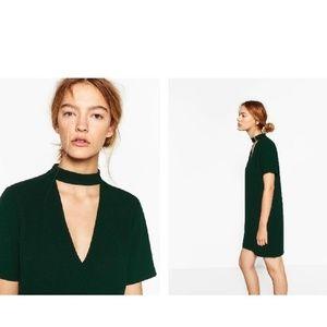 Zara Dark Green Mini Dress